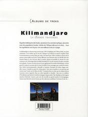 Kilimandjaro, la grande traversée - 4ème de couverture - Format classique