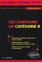 Les Concours De Categorie B Fonction Publique Concours Administratifs Presentation Methodologie - Intérieur - Format classique