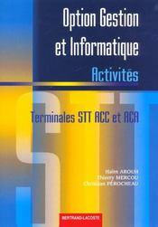 Option Gestion Et Informatique Ter Stt - Intérieur - Format classique