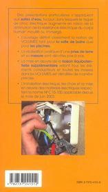 L'installation electrique dans les pieces d'eau - 4ème de couverture - Format classique