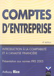 Comptes d'entreprises - Intérieur - Format classique