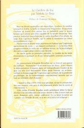 Le Gardien Du Feu - 4ème de couverture - Format classique