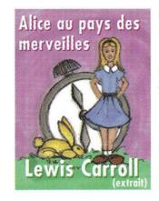 Alice Au Pays Des Merveilles Mini-Livre Collection 3/2 - Couverture - Format classique