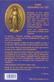 Marie médiatrice du ciel ; comment l'invoquer ? - 4ème de couverture - Format classique