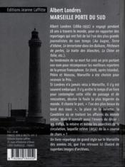 Marseille Porte Du Sud - Ne - 4ème de couverture - Format classique