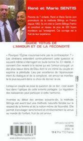 Guide Totus - De L'Amour Et De La Fecondite - 4ème de couverture - Format classique
