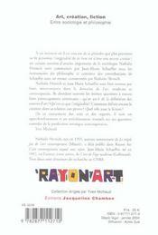 Art, Creation, Fiction : Entre Sociologie Et Philosophie - 4ème de couverture - Format classique