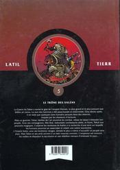 Les guerriers t.5 ; le trône de Salens - 4ème de couverture - Format classique
