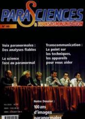 Parasciences et transcommunication n.40 - Couverture - Format classique