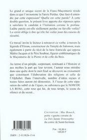 Parole Voilee A La Parole Perdue (De La .) - 4ème de couverture - Format classique