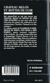 Chapeau Melon Et Bottes De Cuir - 4ème de couverture - Format classique