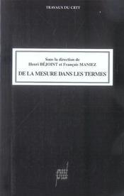 De La Mesure Dans Les Termes - Intérieur - Format classique
