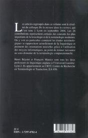 De La Mesure Dans Les Termes - 4ème de couverture - Format classique