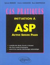 Vente livre :  Initiation A Asp Active Server Page  - Rampnoux