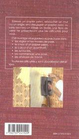 Revetements muraux ; preparation des supports, techniques de base - 4ème de couverture - Format classique