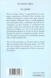 Le Puits - 4ème de couverture - Format classique
