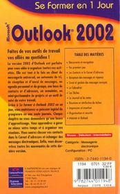 Outlook 2002 - 4ème de couverture - Format classique
