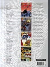 Ric Hochet ; intégrale t.17 - 4ème de couverture - Format classique