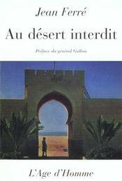 Au Desert Interdit - Intérieur - Format classique