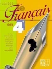 Le Francais En 4e - Livre Unique - Couverture - Format classique