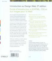 Introduction design web - 4ème de couverture - Format classique