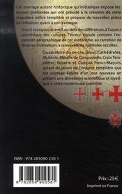 Ombres lumières templières - 4ème de couverture - Format classique
