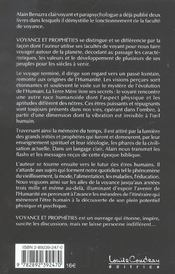 Voyance Et Propheties - 4ème de couverture - Format classique