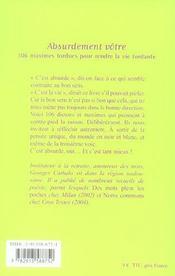 Absurdement votre ; 106 maximes tordues pour rendre la vie tordante - 4ème de couverture - Format classique