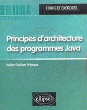 Principes D'Architecture Des Programmes Java Cours Et Exercices - Intérieur - Format classique