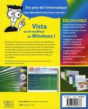 Windows Vista pour les nuls (2e édition) - 4ème de couverture - Format classique