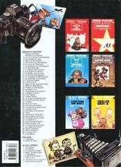 Spirou et Fantasio ; hors série t.1 ; l'héritage - 4ème de couverture - Format classique