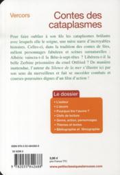 Contes des cataplasmes - 4ème de couverture - Format classique