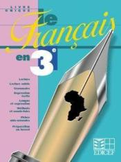 Livre Unique Le Francais En 3e - Couverture - Format classique