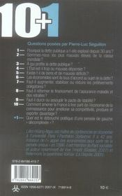 10+1 ; questions sur la dette - 4ème de couverture - Format classique