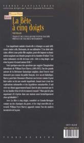 Bete A Cinq Doigts - 4ème de couverture - Format classique