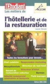 Les métiers de l'hôtellerie et de la restauration - Couverture - Format classique