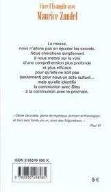 L'Eucharistie, Eviter Les Malentendus - 4ème de couverture - Format classique