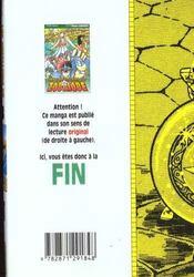 Les chevaliers du zodiaque t.13 - 4ème de couverture - Format classique