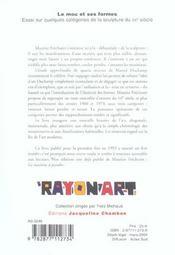 Le Mou Et Ses Formes ; Essai Sur Quelques Categories De La Sculpture Du Xx Siecle - 4ème de couverture - Format classique
