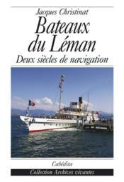 Bateaux Du Leman - Couverture - Format classique