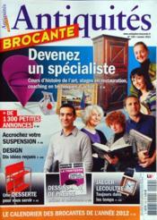 Antiquites Brocante N°159 du 01/01/2012 - Couverture - Format classique