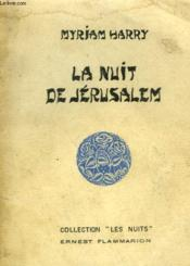La Nuit De Jerusalem. - Couverture - Format classique