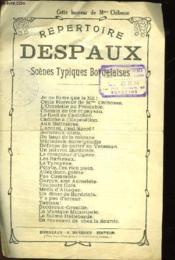 Repertoire Despaux Scenes Typiques Bordelaises - Cette Horreur De Mme Chibosse - Couverture - Format classique
