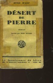 Desert De Pierre - Couverture - Format classique