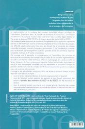 La Consolidation Des Comptes Nouvelles Reglementations Et Pratiques - 4ème de couverture - Format classique
