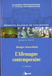 L'allemagne contemporaine - Intérieur - Format classique