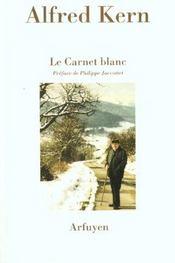 Carnet Blanc (Le) - Intérieur - Format classique