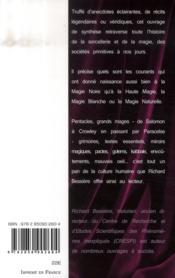 Histoire secrète de la magie et de la sorcellerie - 4ème de couverture - Format classique