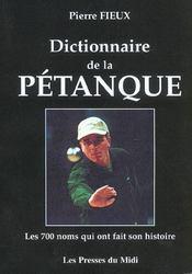 Dictionnaire De La Petanque - Intérieur - Format classique
