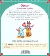 Oscar Trouve Une Copine - 4ème de couverture - Format classique